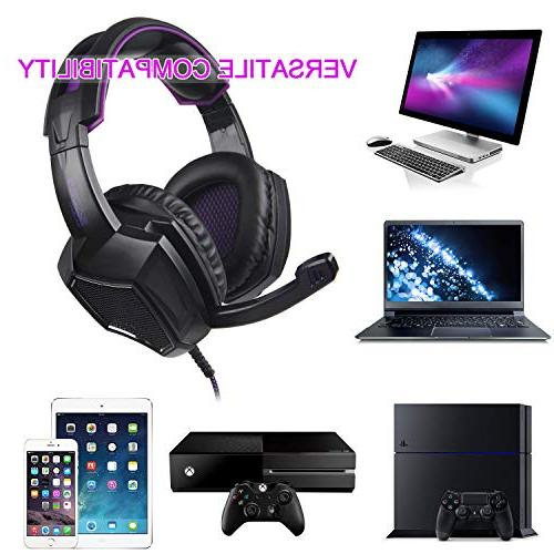 Sades SA920 Wired Over Ear Stereo Gaming Headphone Headset Microphone one/ PS4/ PC/iOS/Computer/Smart Phones/Mobiles/Laptop/Mac /