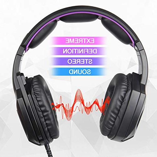 Sades SA920 Wired Over Ear Stereo Gaming with Microphone New Box one/ PC/iOS/Computer/Smart Phones/Mobiles/Laptop/Mac /