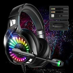 LED Ergonomic Gaming Headset Noise Cancelling Mic Headphone