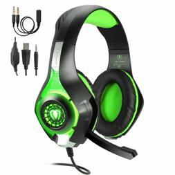 LED Gaming Headset for PS4 PC Xbox One Noise Cancelling Head
