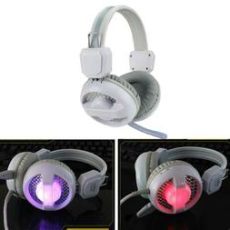 LED Gaming Headset Headphones with Mic For Laptop Computer T