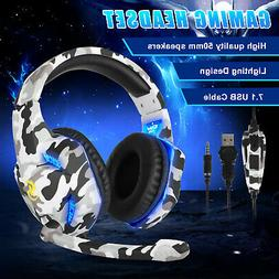 LED Gaming Headset Noise Cancelling Headphone for Nintendo S
