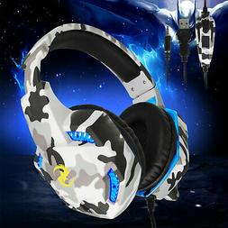 LED Gaming Headset Wired Stereo Audio Headphone for PS4 Xbox