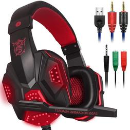 LED Lights <font><b>Gaming</b></font> <font><b>Headset</b></