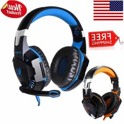LED Stereo Gaming Noise-cancelling Wired Headset Headphone w