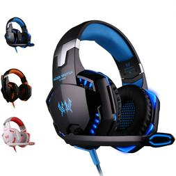 Luxury Wired Gaming Headset Headphones With Microphone For S