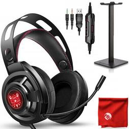 ONIKUMA M190 RGB LED Gaming Headset + Stand for Xbox One, PS