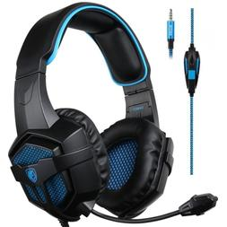 Mobile Xbox One PS4 Bass Gaming Headset Headphones W/ Microp