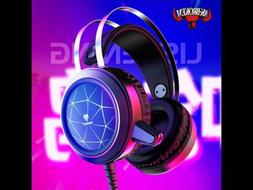 N1 RGB Wired Gaming Headphones - Over Ear Headset - 3.5mm Wi
