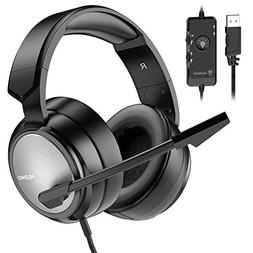BENGOO N12 Gaming Headset for PS4, PC, 7.1 Surround Sound Ov