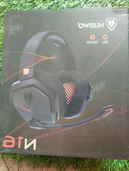 NUBWO N16 PC Head Mount Gaming Headset, 3.5mm Wire Control H
