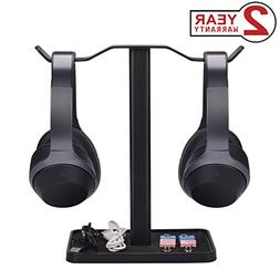 Neetto Dual Headphones Stand for Desk, Gaming Headsets Holde