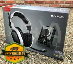 Astro A40 + MixAmp Pro - White 7.1 Wired Gaming Headset PS4