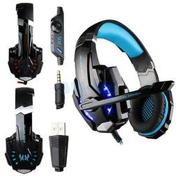 New EACH G9000 Wired Gaming Stereo Headset LED Lights Headph