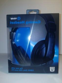 New U YOUSE GAMING HEADSET XBOX ONE PS4 AND PC - Wired With