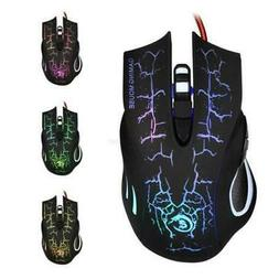 New Hot sale Gaming Mouse Crack Pattern Wired Mouse USB Wire