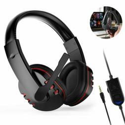 New Nintendo Switch PC Stereo 3.5mm Wired Gaming Headset  Fo