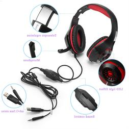 NEW Red / Blue Beexcellent GM-1 Gaming Headset Pro & Mic XBO