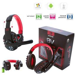 Simply Silver - New V8 Wireless Bluetooth Gaming Headset Ear