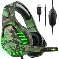 Noise Cancelling Gaming Headset w/ 7.1 Surround Sound Stereo