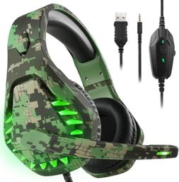 Noise Cancelling Gaming Headset with 7.1 Surround Sound Ster