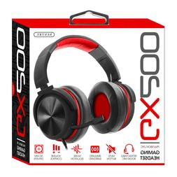 Noise Isolation GX200: Red Gaming Headset For PlayStation, X