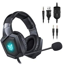 ONIKUMA Gaming Headset - Updated K8 Headset Gaming for PS4 N