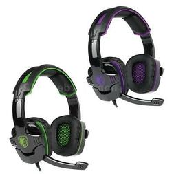 Over-ear 3.5mm Wired Headset PC Gaming Headphone w/Mic for S