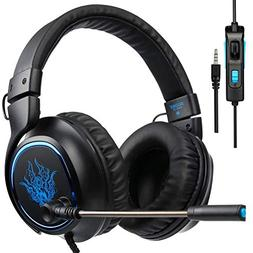 Sades R5 PS4 Xbox One Gaming Headsets, Over Ear PC Gaming He
