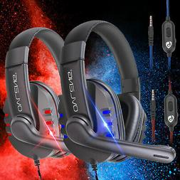 Over-ear Gaming Headset Stereo Headphone For PS4/Nintendo Sw