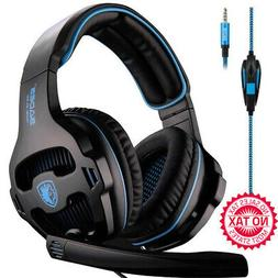 over ear stereo bass gaming headset