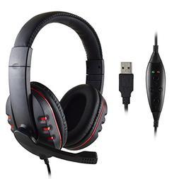 FNSHIP P3-726 Headband Gaming Headset USB Port Wired Stereo