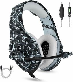 For PC MAC Noise Cancelling Wired Headset With Mic Gaming Su