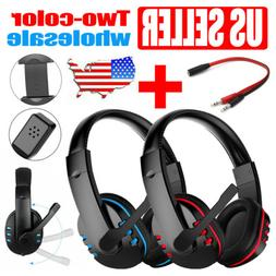Gaming Headset with Mic Stereo Gamer Bass Surround Headphone