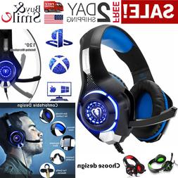 Pro Gaming Headset With Mic Wired XBOX One Pc PS4 Headphones