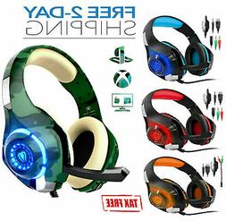 Pro Gaming Headset With Mic XBOX One Wireless PS4 Headphones