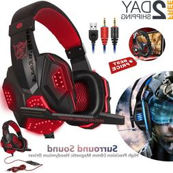Pro Gaming Headset With Mic XBOX One PS4 PC Headphones Micro