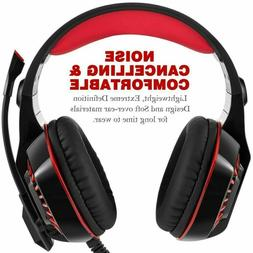 Pro GM-2 Stereo Gaming Chat Headset with Mic - Red for PlayS