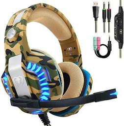 Beexcellent Pro Stereo Gaming Headset for PS4 Xbox One PC, A