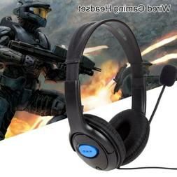 Pro Wired Gaming Headphone Headset w/Mic for Sony PlayStatio