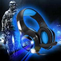 Pro Wired Gaming Headset  XBOX One PS4 With Mic Stereo Headp