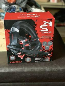 Professional Gaming Headphones Onikuma K2 Pro Red and Black