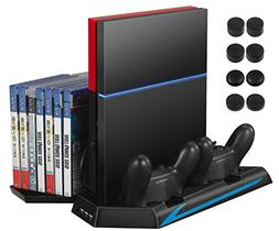 AMIR PS4 Vertical Stand Cooling Fan, Cooler Charging Station