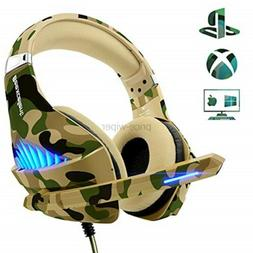 Gaming Headset for Xbox One PS4 PC, Beexcellent Deep Bass He