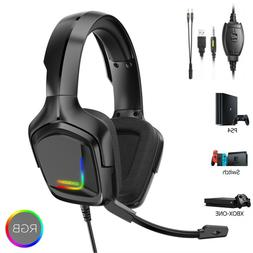 PS4 Gaming Headset ONIKUMA K20 Xbox one Headphone with RGB S
