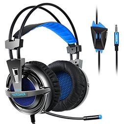 Kingtop PS4 Gaming Headset Over Ear Stereo Bass Gaming Headp