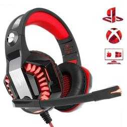 Beexcellent PS4 Headset, Stereo Deep Bass Xbox One Gaming PC