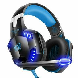 for PS4 PS3 Xbox One and Xbox 360 Gaming Headset MIC LED Hea