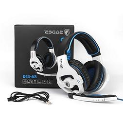 PC PS4 XBOX ONE Gaming Headsets, SADES 810W 3.5mm Over the e