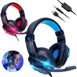 For PS4 Xbox One Nintendo Switch PC 3.5mm Wired Gaming Heads